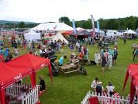 Das Festivalgelände in Bakewell