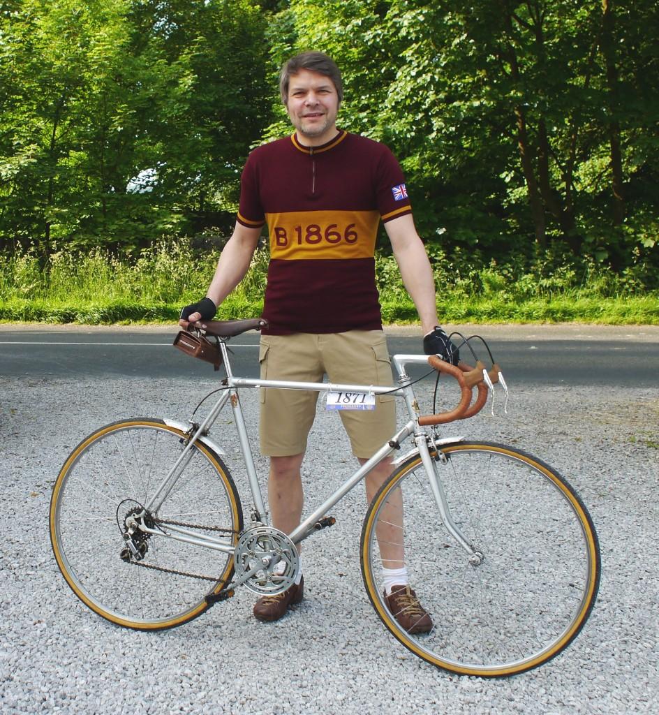 Mein Rad und ich vorm Start